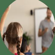 Leerling is betrokken bij leerdoelgerichte les
