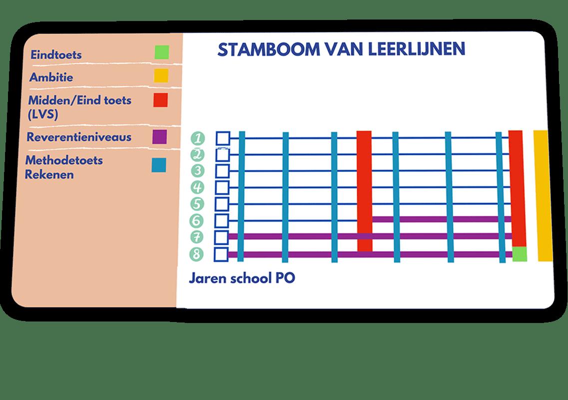 De stamboom van leerlijnen brengt in kaart hoe het onderwijs in Nederland is opgebouwd.